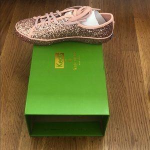Keds Shoes - Keds Kickstart KS Glitter Rose Sneakers